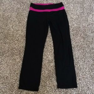 Sweat pants with pink trim